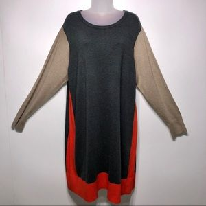 Eliza J Color Block Sweater Dress Size 3X